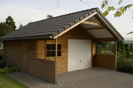tuinhuis met garage