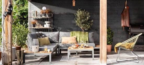 tuinhuis met lounge