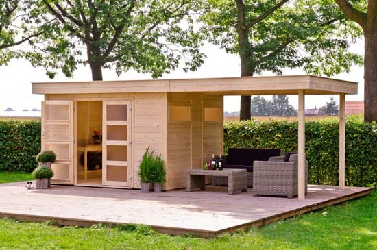 tuinhuis met overkapping Sint-Michiels